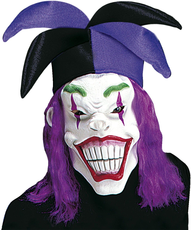 Joker masker met hoed en haar