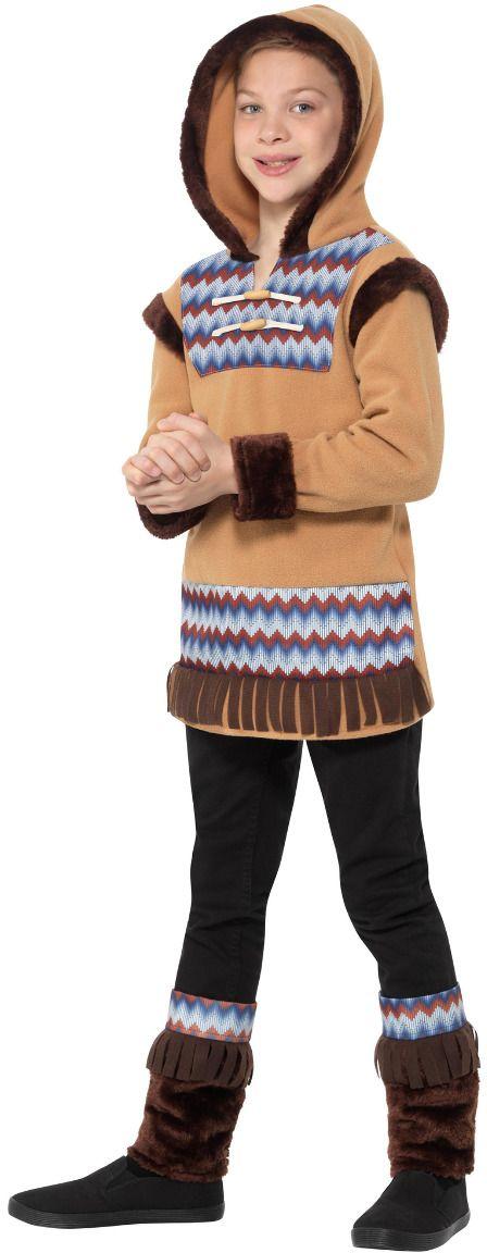 Jongens eskimo outfit bruin