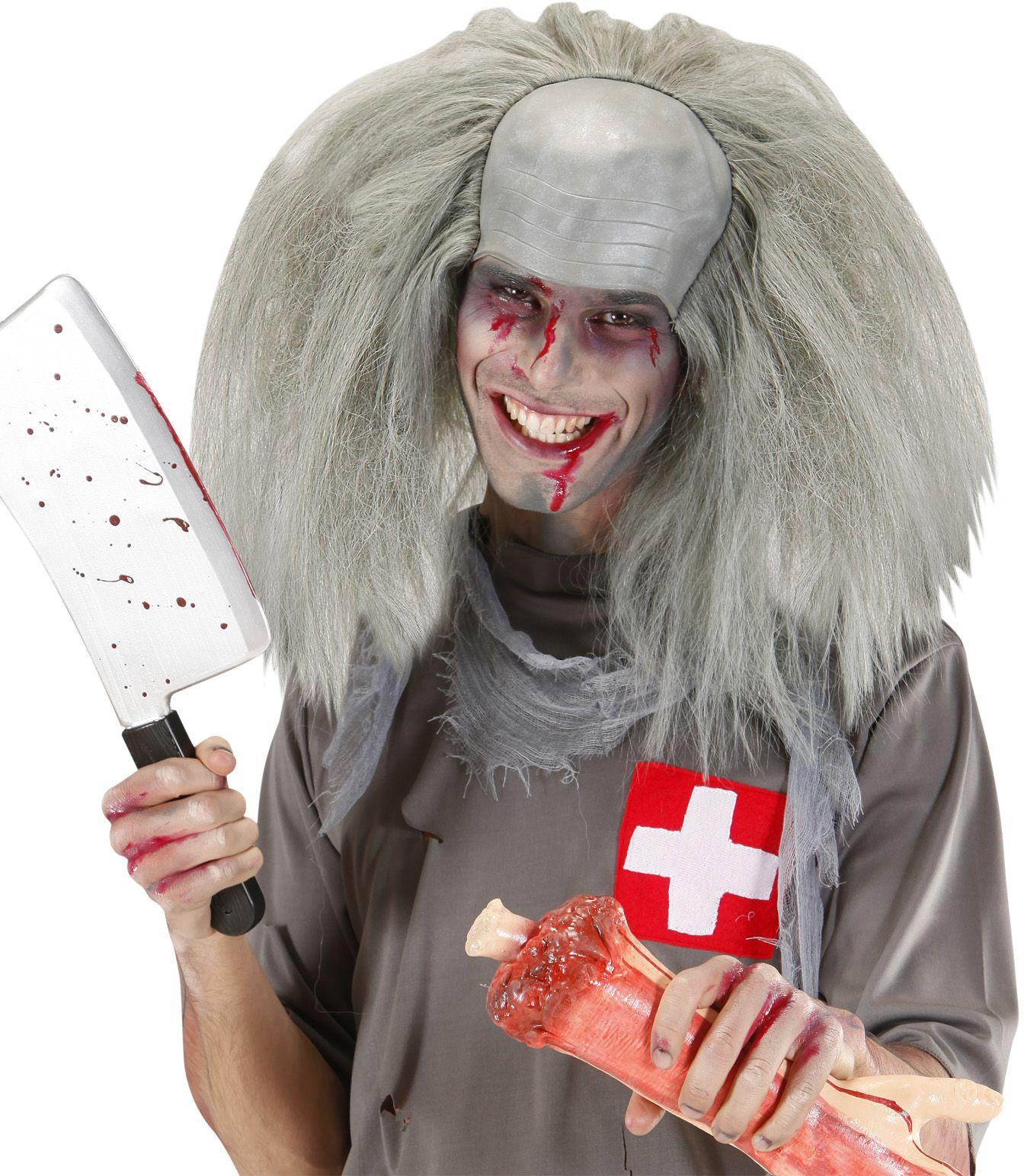 Kale kop pruik zombie