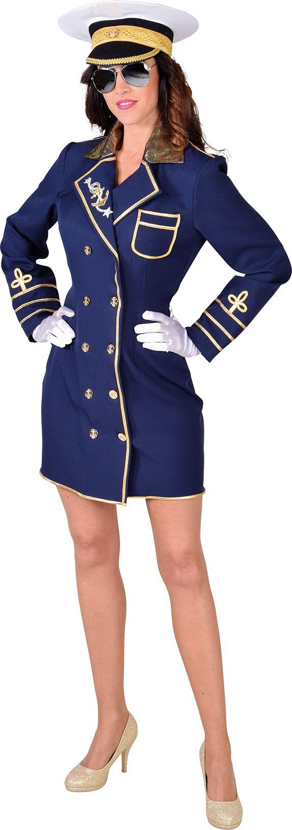 Kapitein jurkje dames blauw