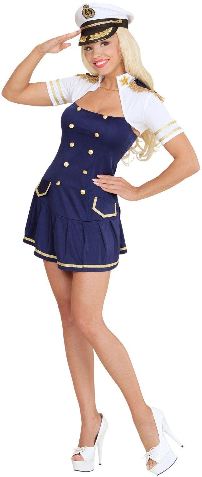 Kapitein meisje jurk met bolero
