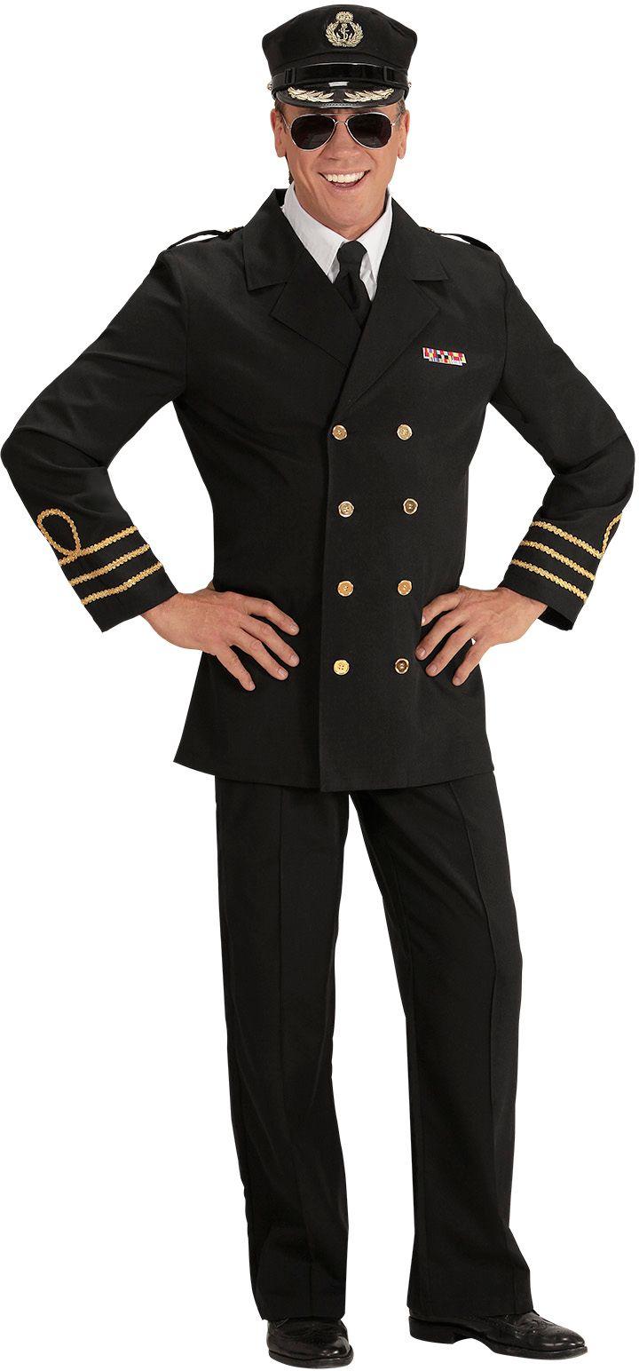 Kapitein officier kostuum