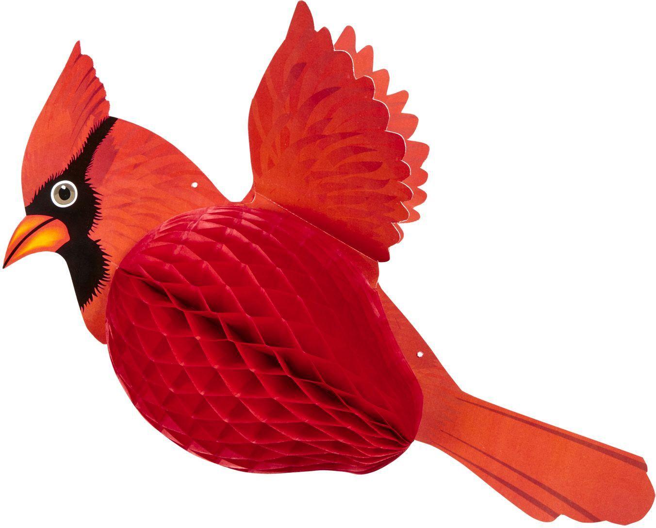 Kardinaalvogel honingraat rood