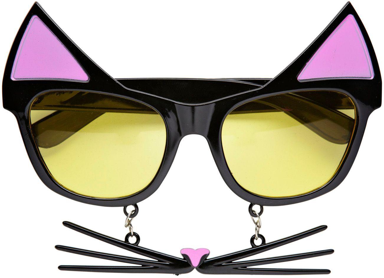 Katten bril met snorharen