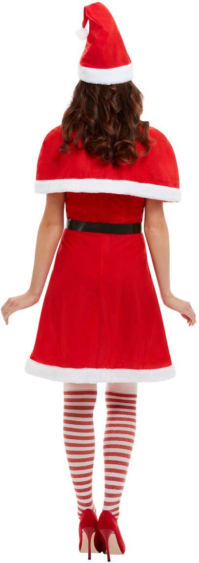 Kerst jurk met cape