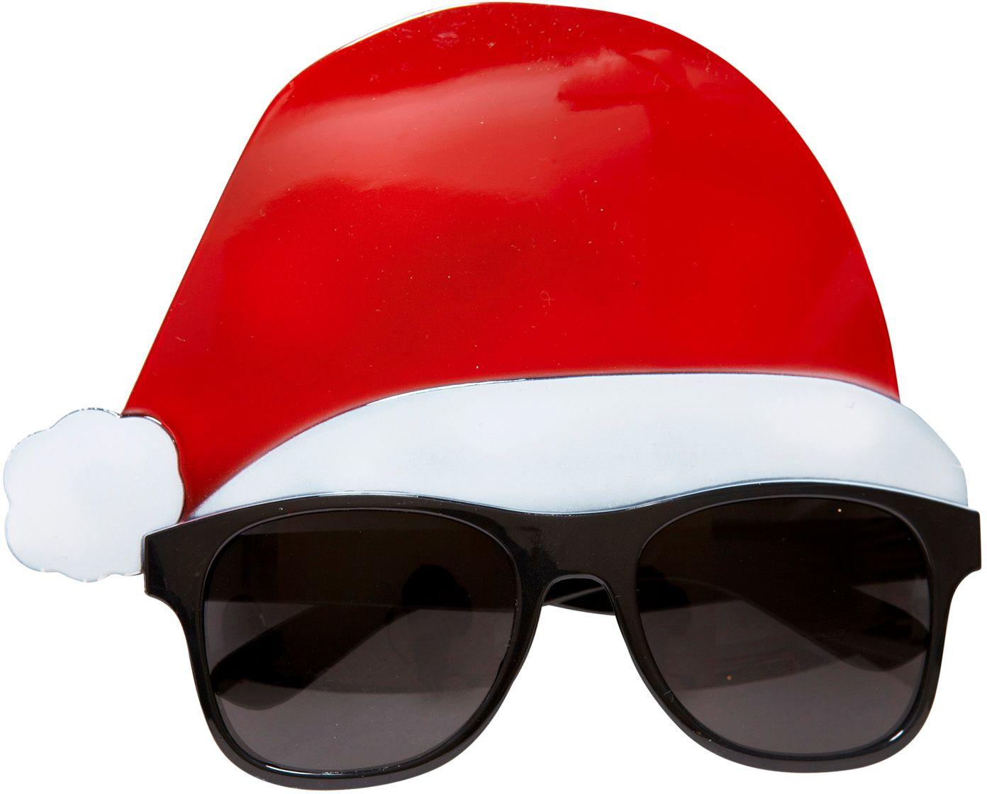 Kerstman bril met muts