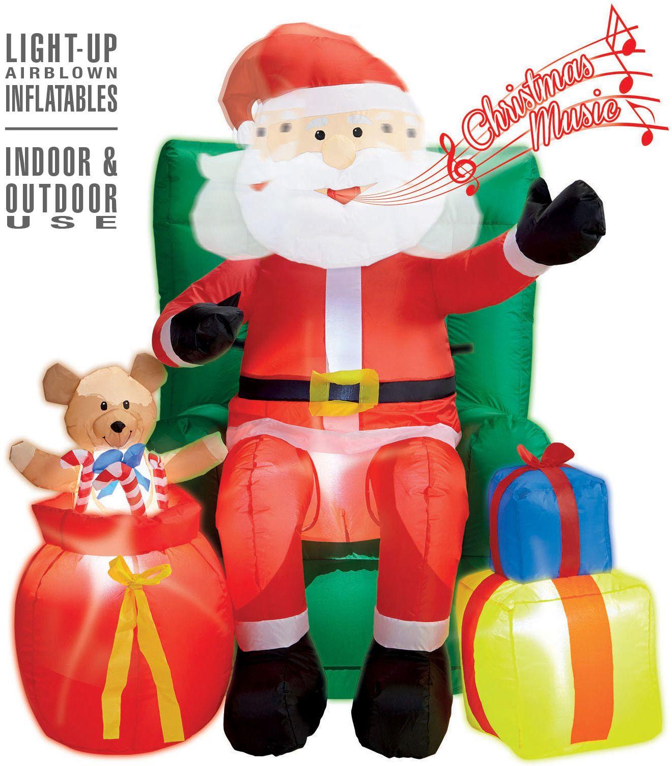 Kerstman decoratie opblaasbaar
