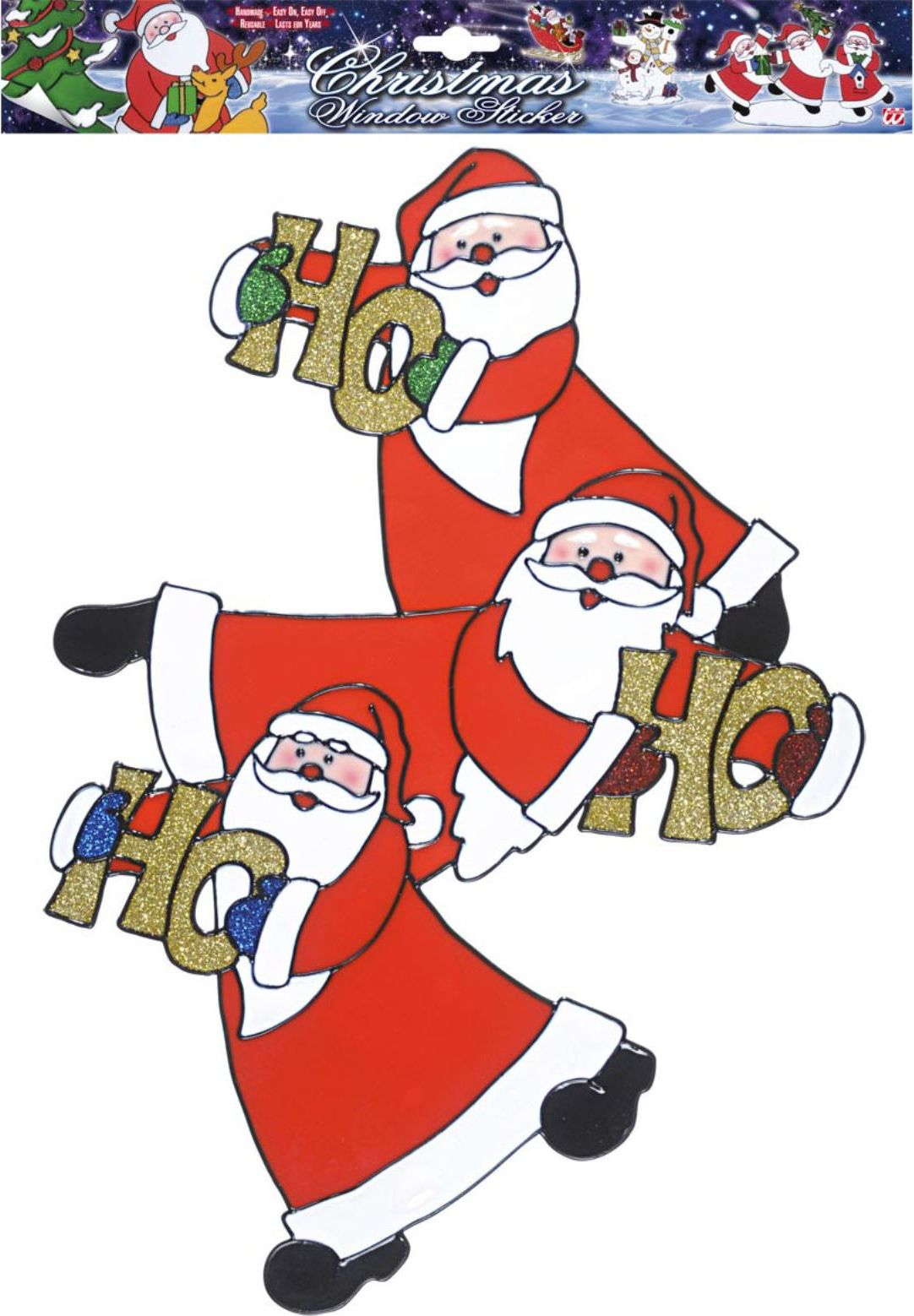 Kerstman Ho Ho Ho sticker