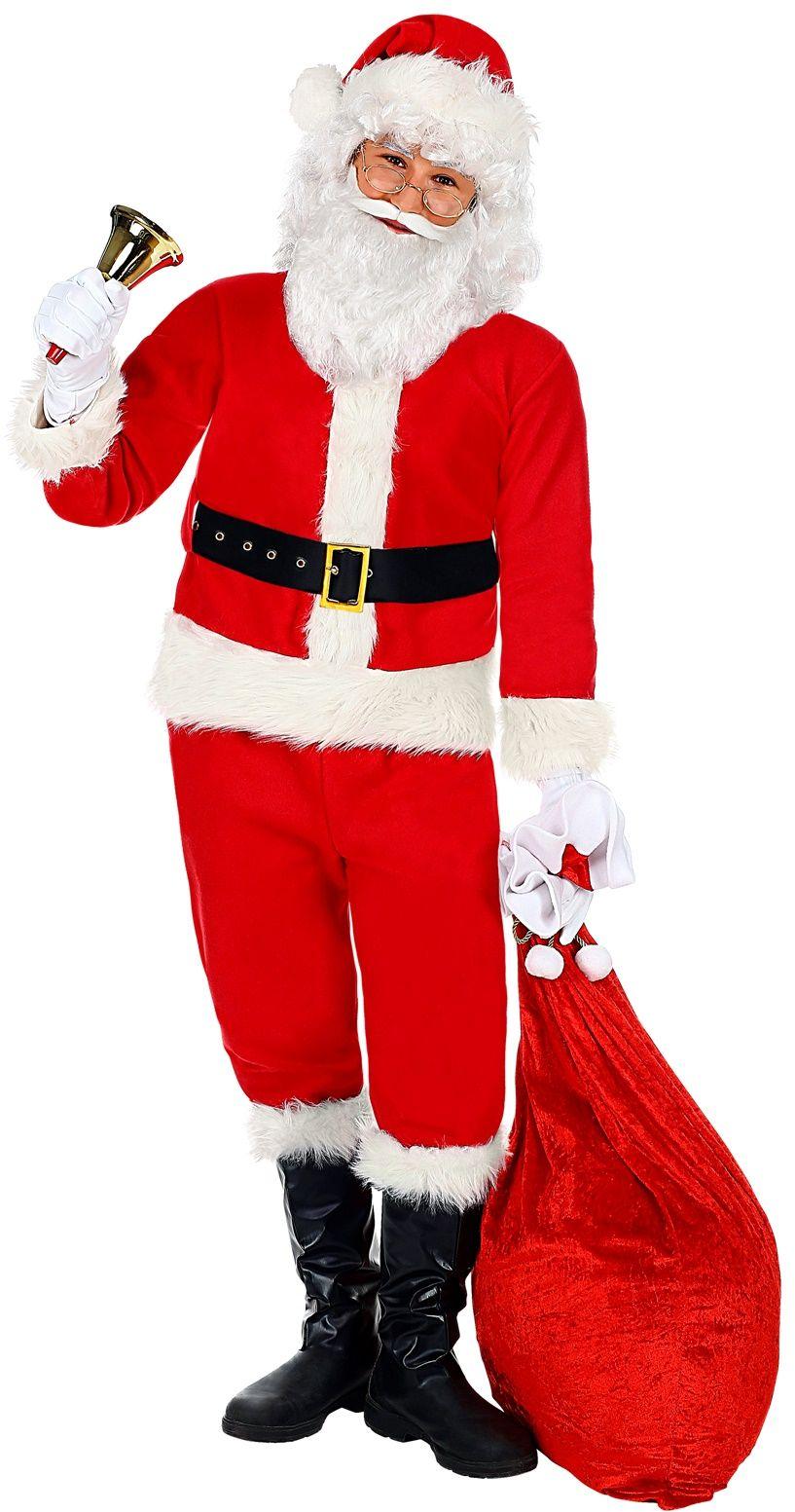 Kerstman kostuum mannen