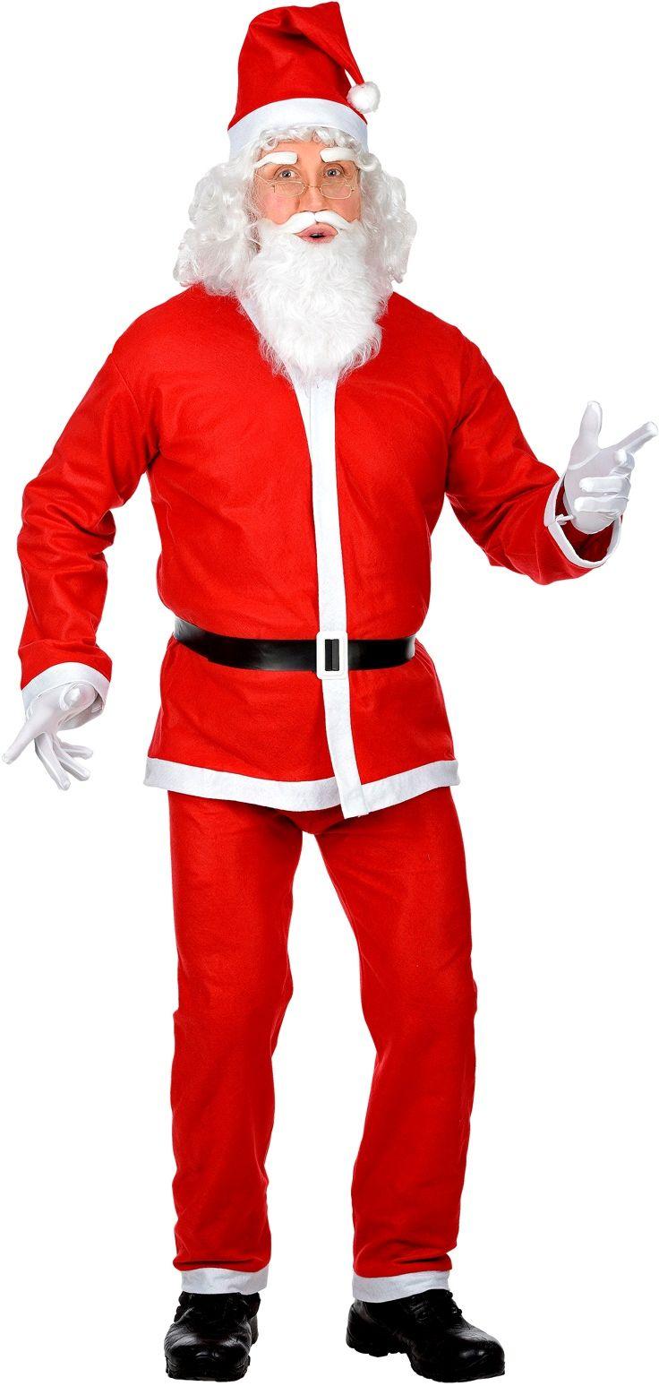 Kerstmannen pak rood