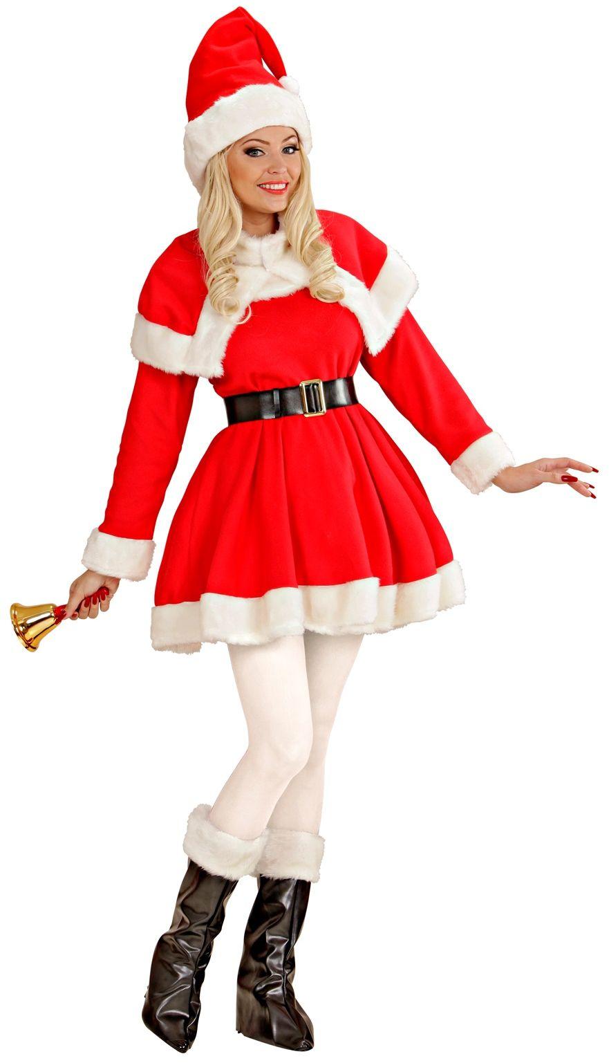 Kerstvrouw kostuum luxe
