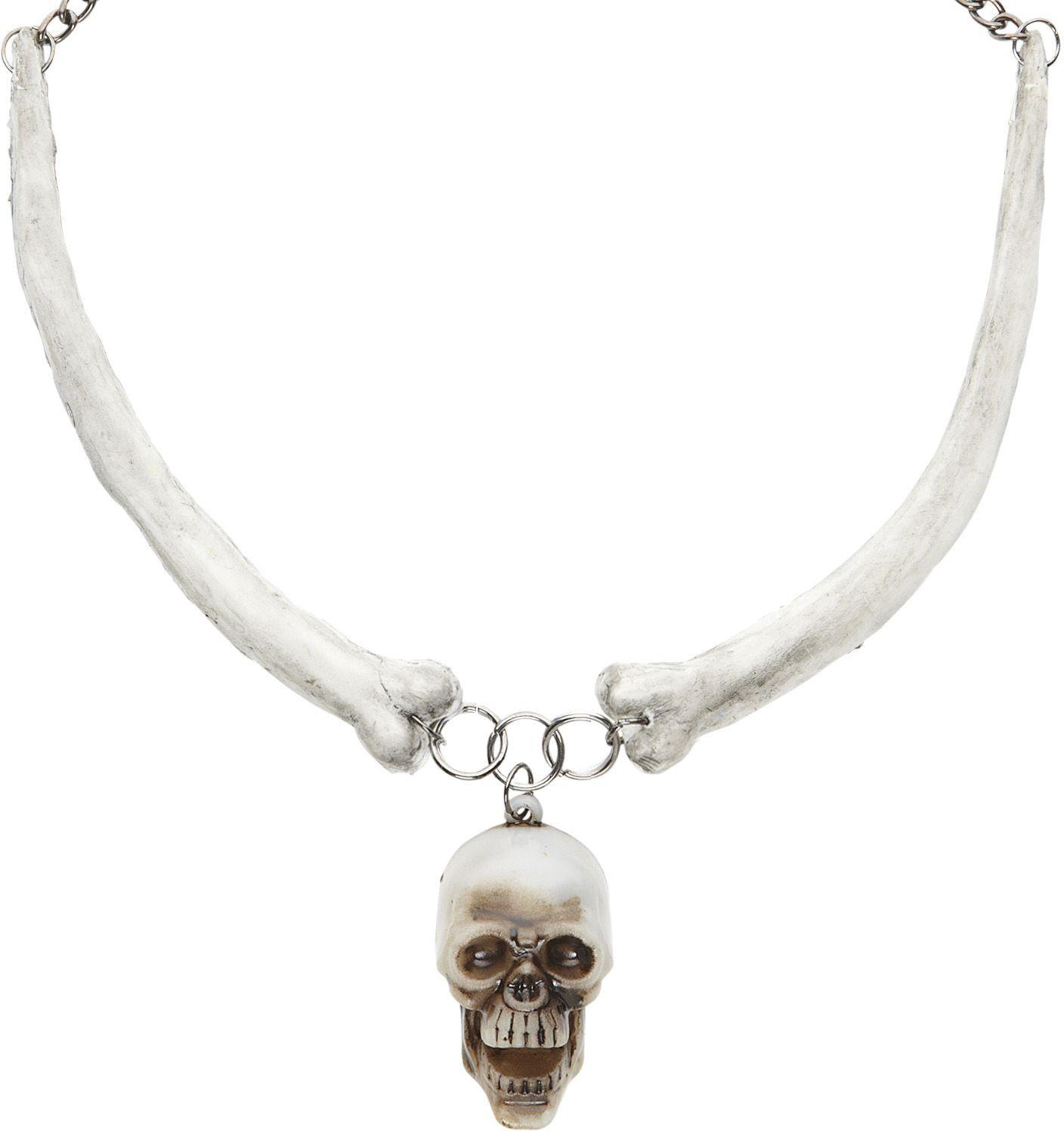 Ketting met schedel en botten