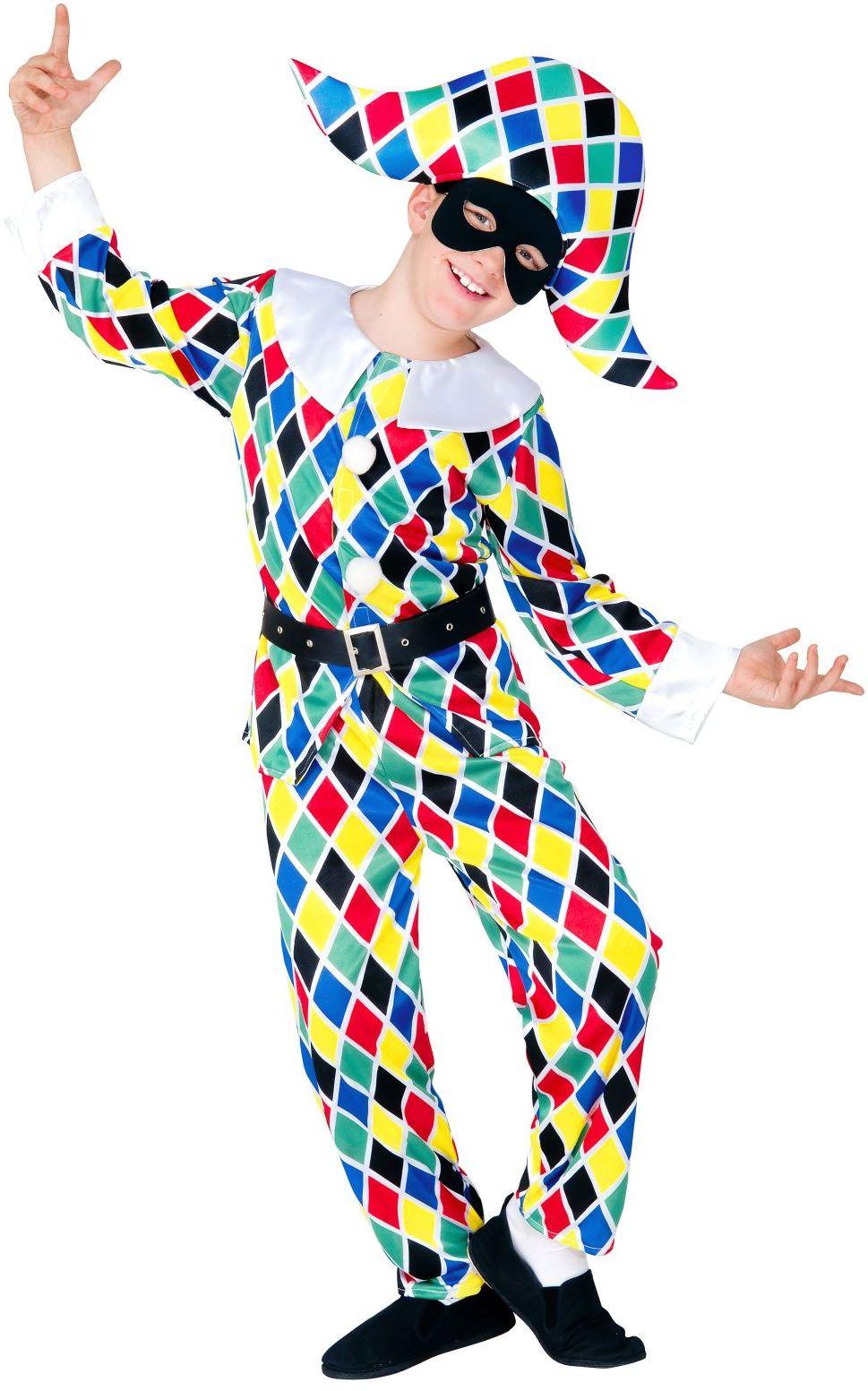 Klassiek harlekijn kostuum jongen