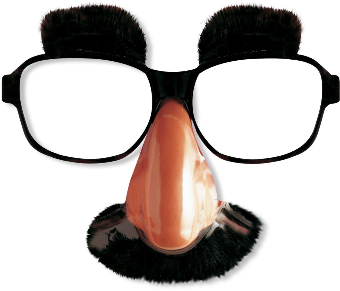 Klassieke bril met neus, snor en wenkbrauwen