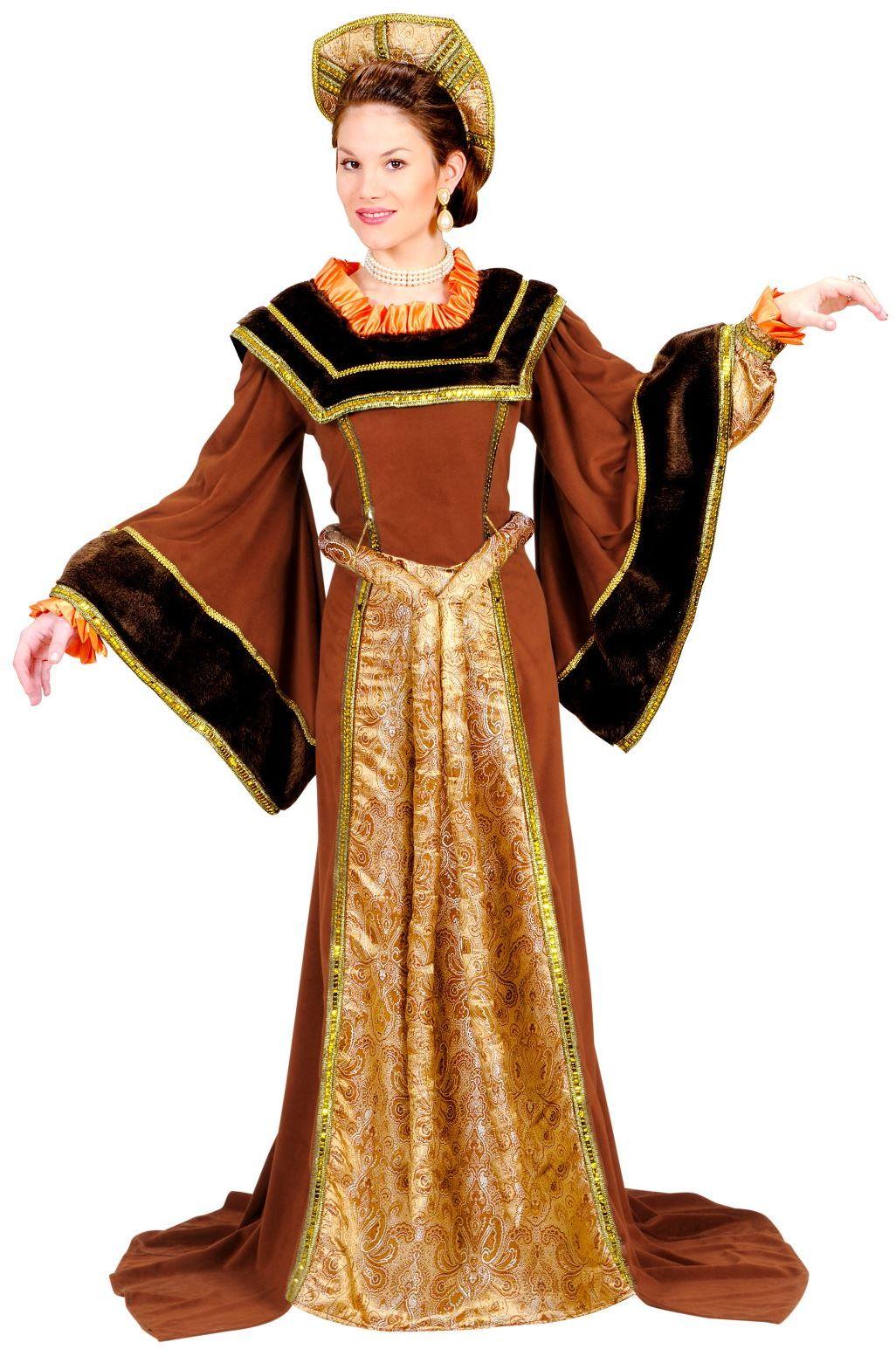 Klassieke Engelse bruine jurk