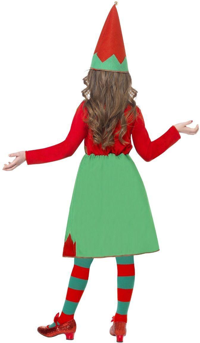 Kleine hulpje van de kerstman outfit
