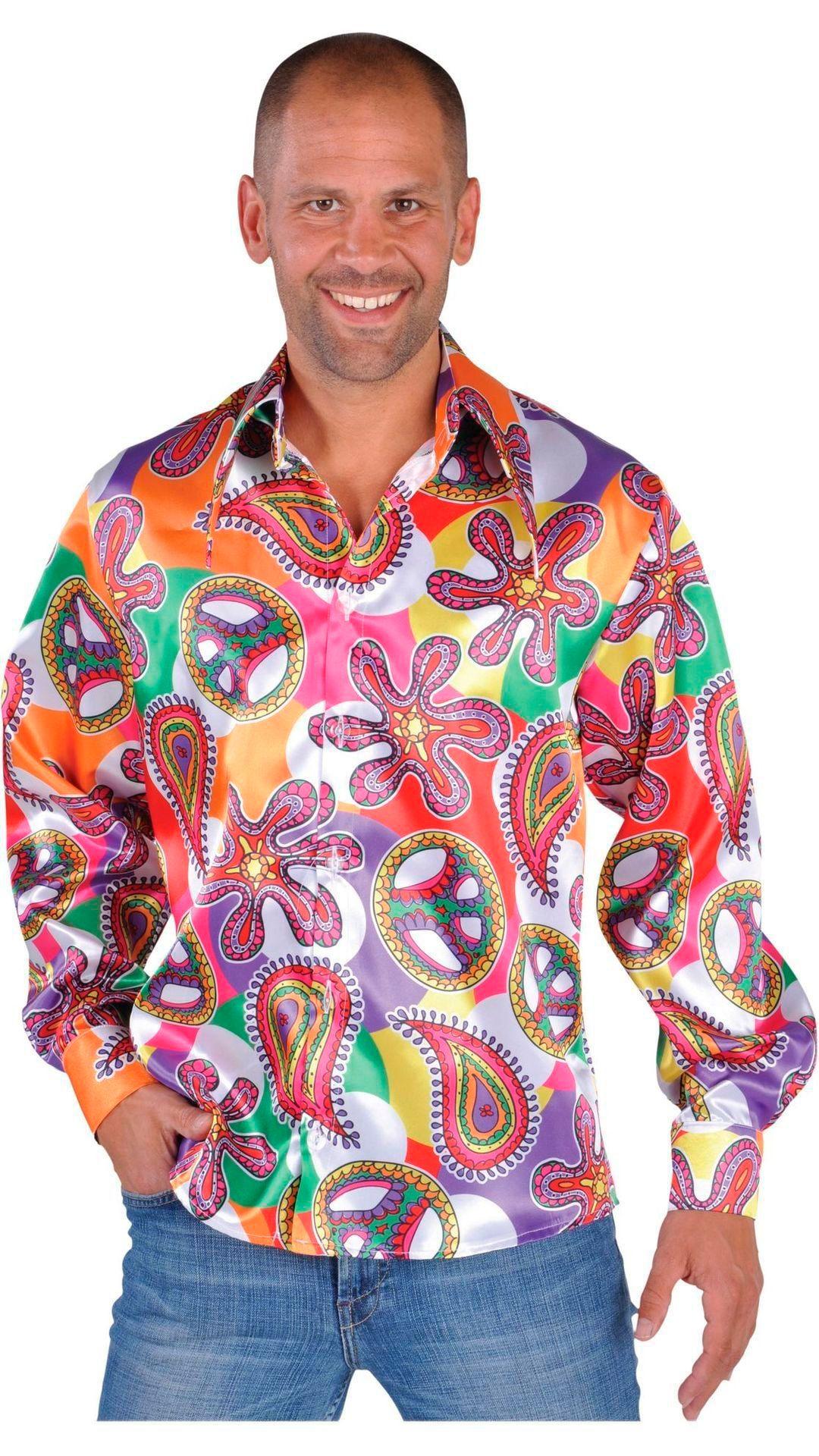 Kleurige hippie blouse heren