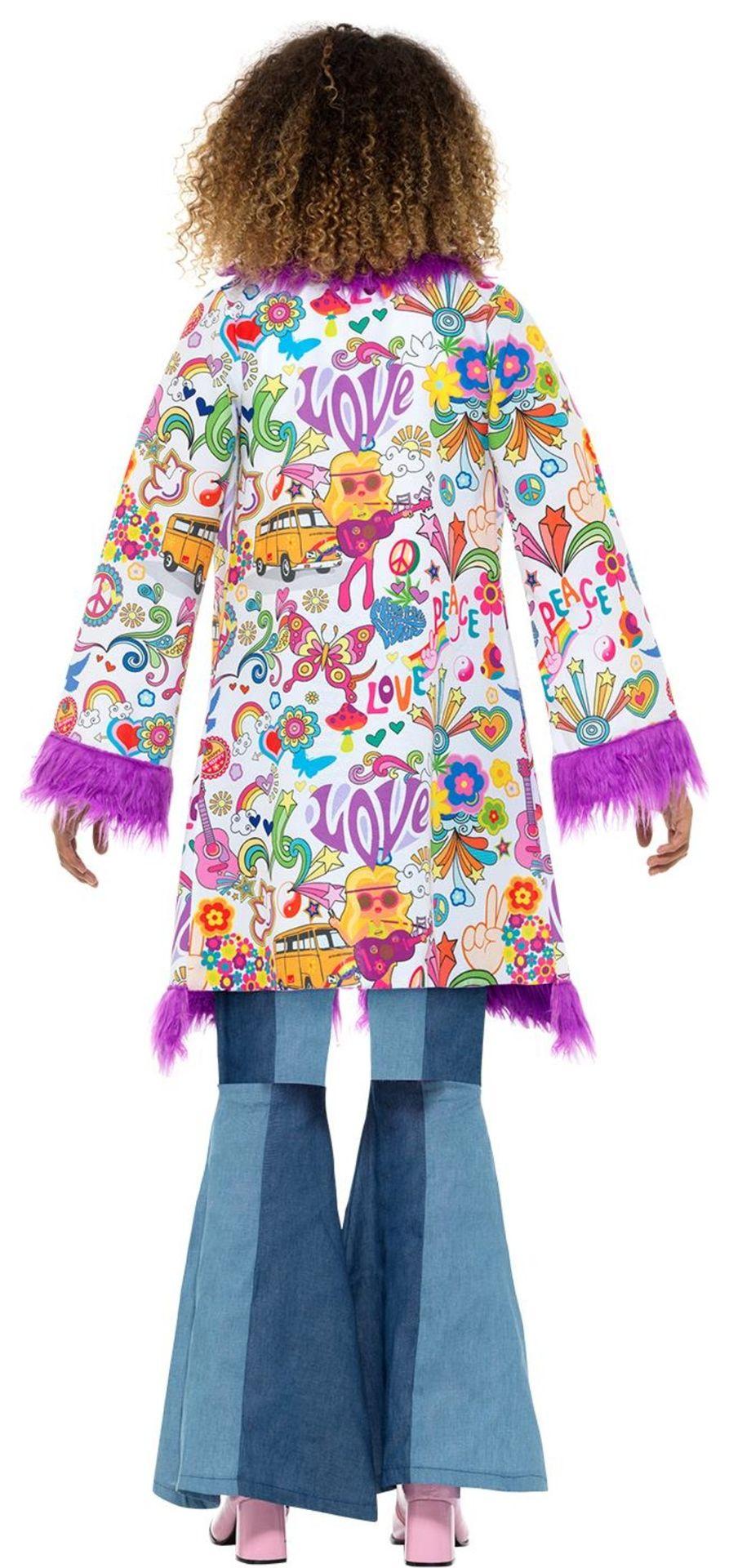 Kleurige hippie jas