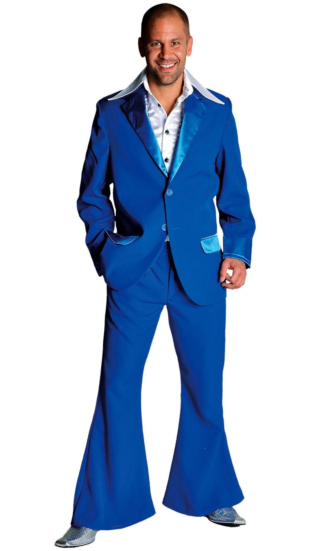 Kobalt blauw 70s pak