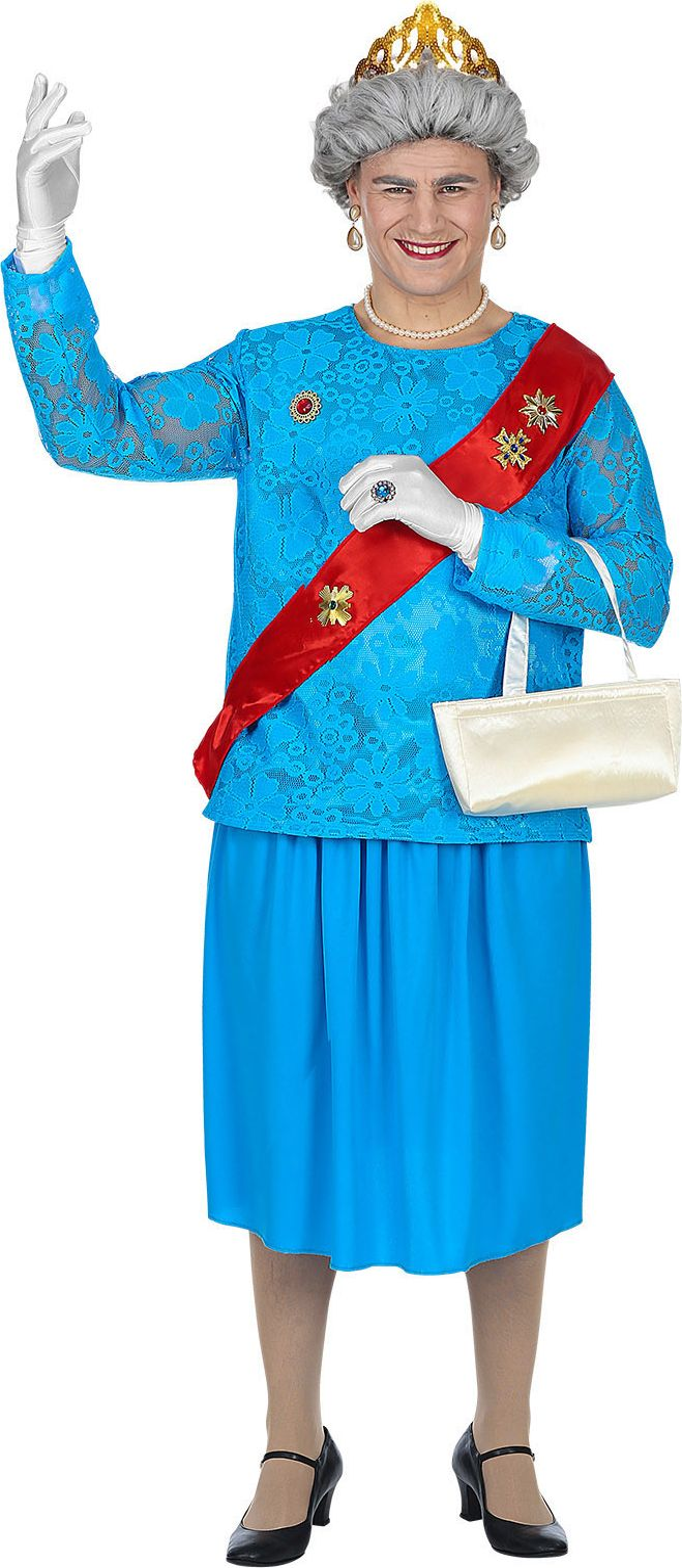 Koningin Elizabeth pak blauw