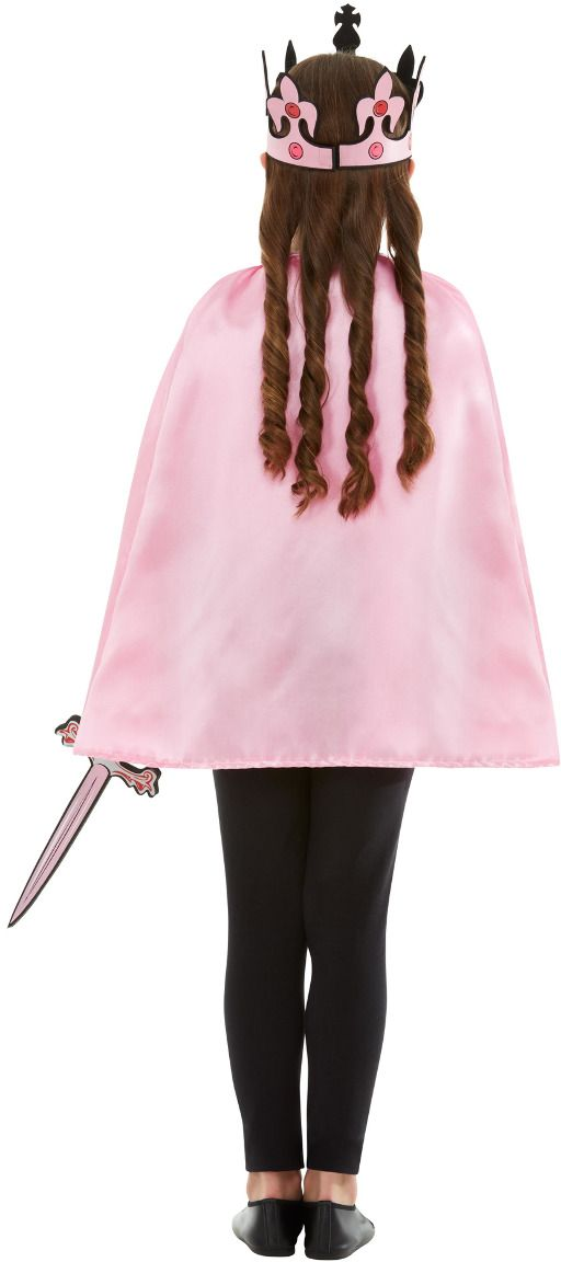 Koningin verkleedset roze