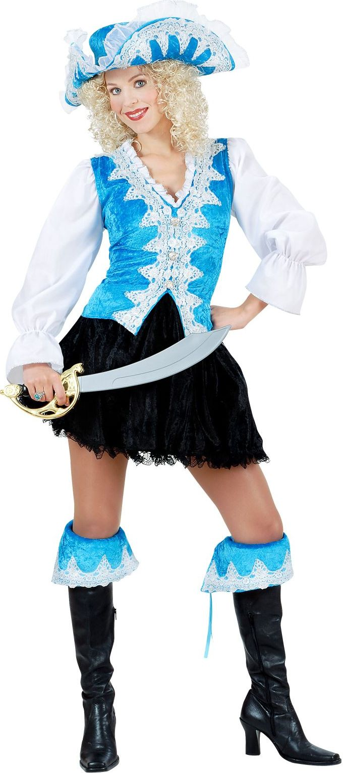 Koninklijk dames piratenpak blauw