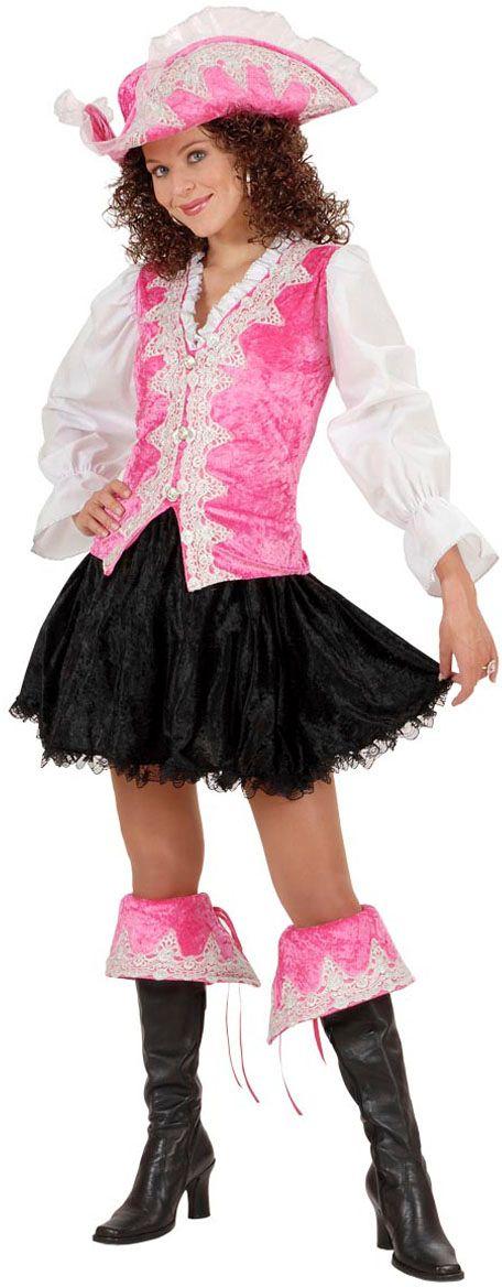 Koninklijk dames piratenpak roze
