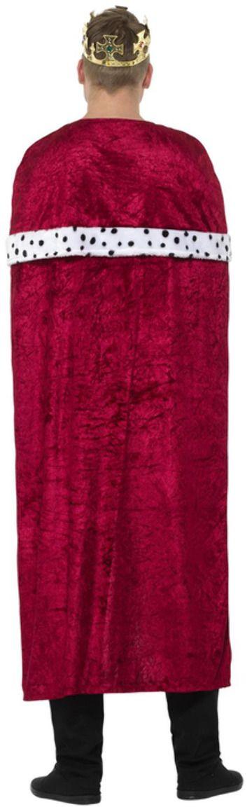 Koninklijke mantel verkleedset rood