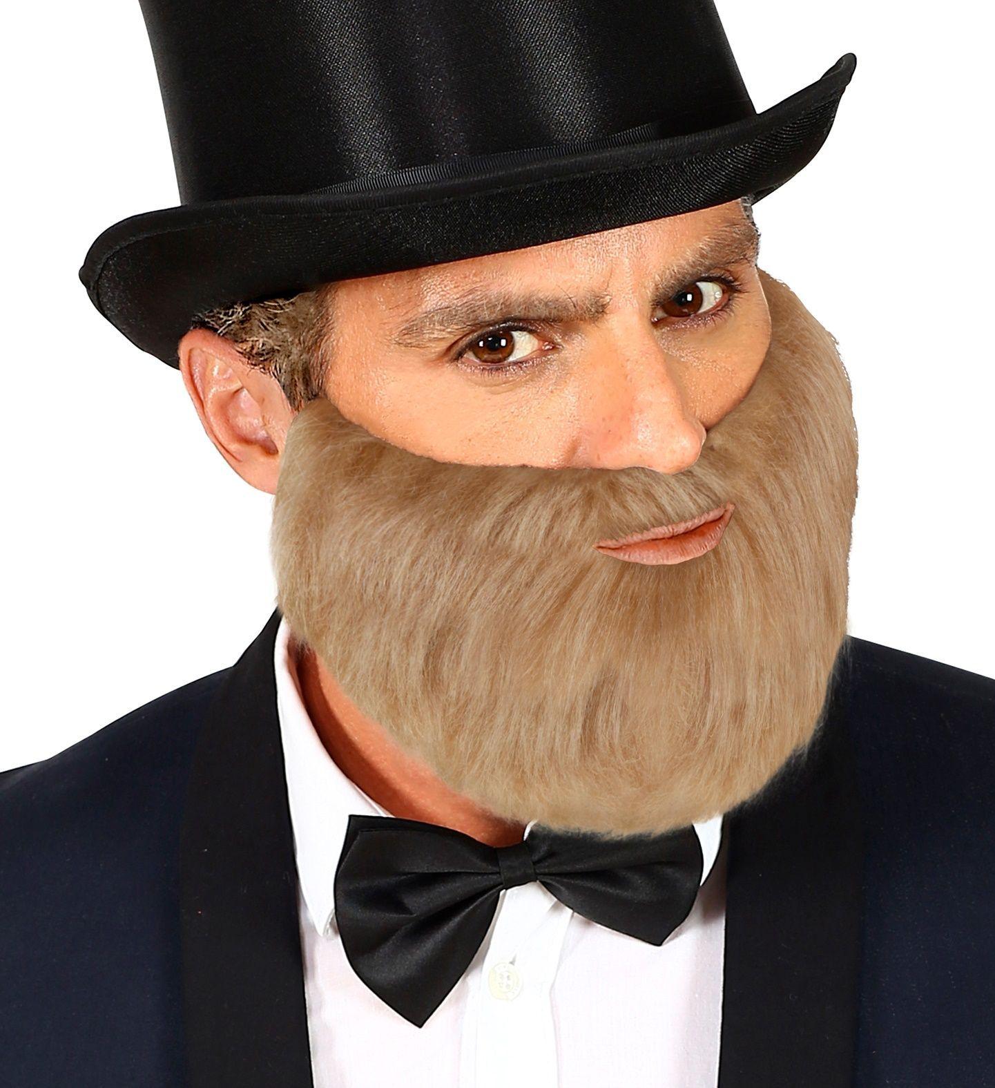 Korte grijze baard met snor