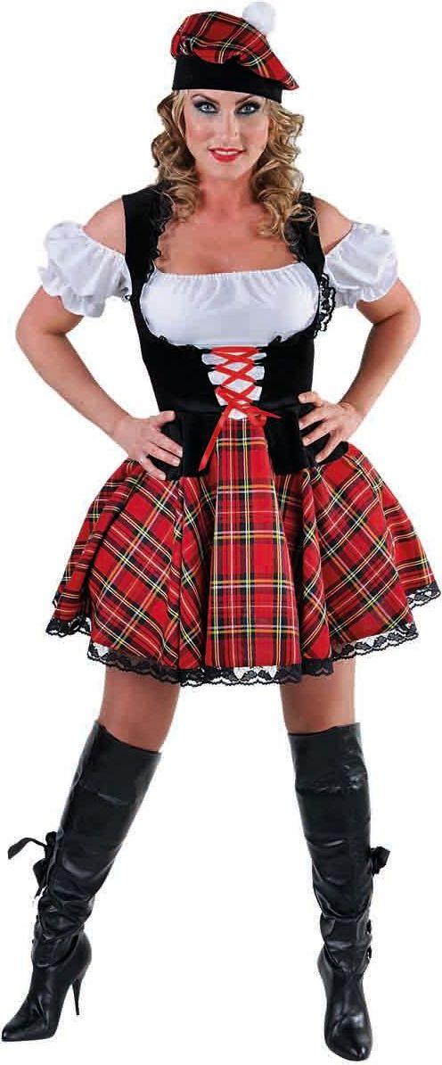 Korte Schotse jurk dames
