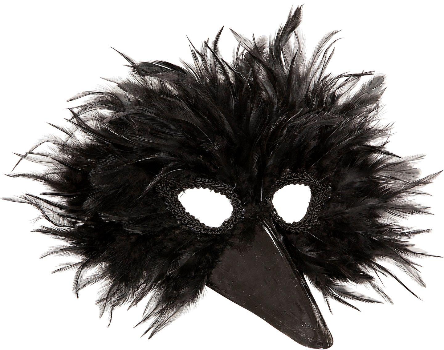 Kraai oogmasker met veren