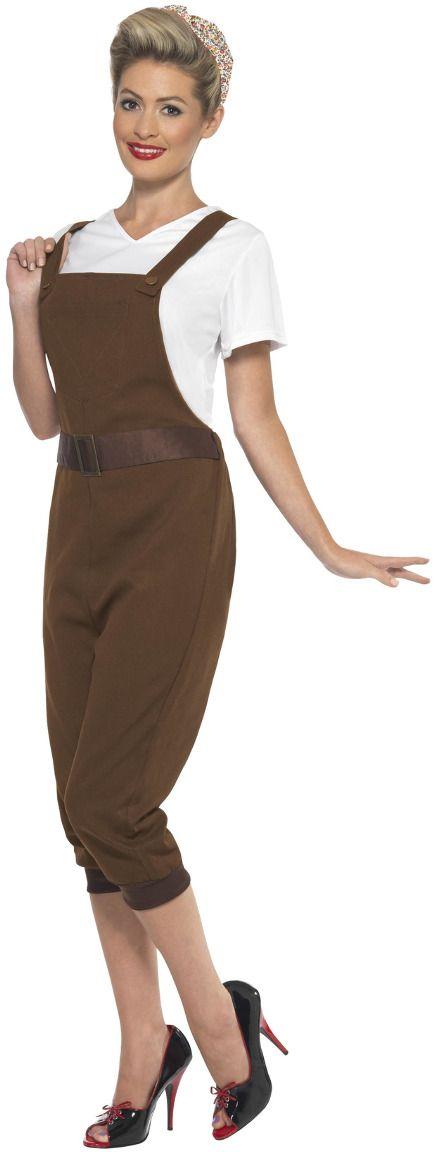 Landwerker outfit bruin dames