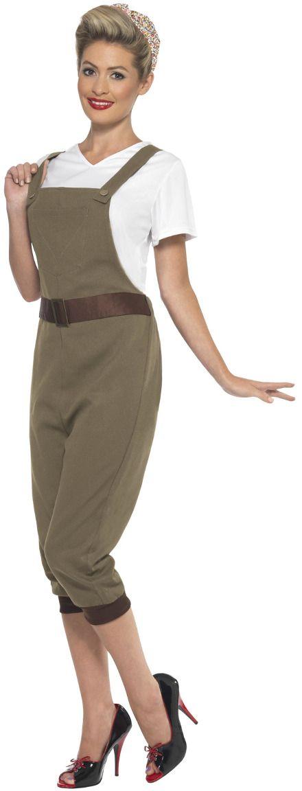 Landwerker outfit khaki dames