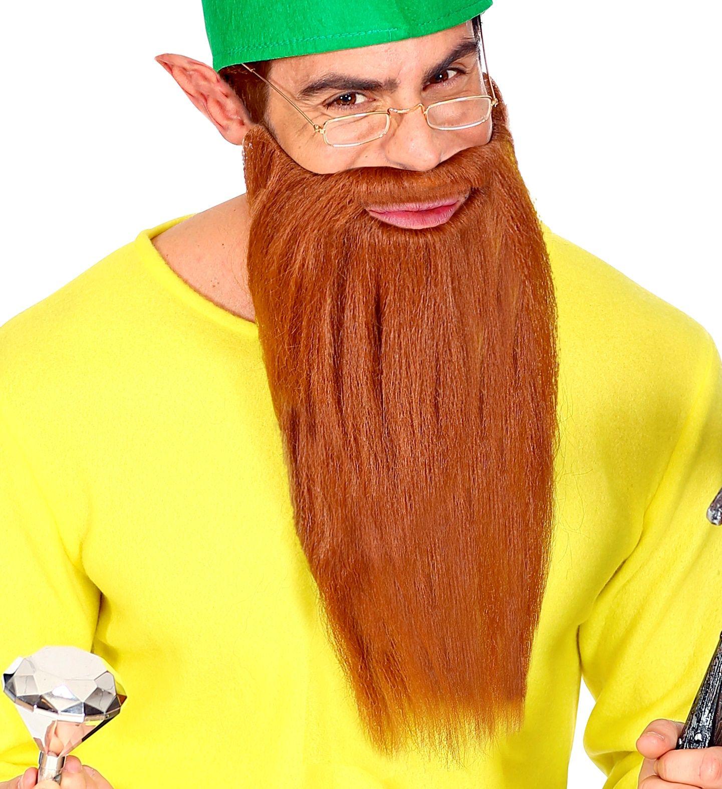 Lange bruine baard met snor