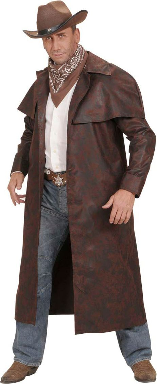 Lange bruine cowboy jas