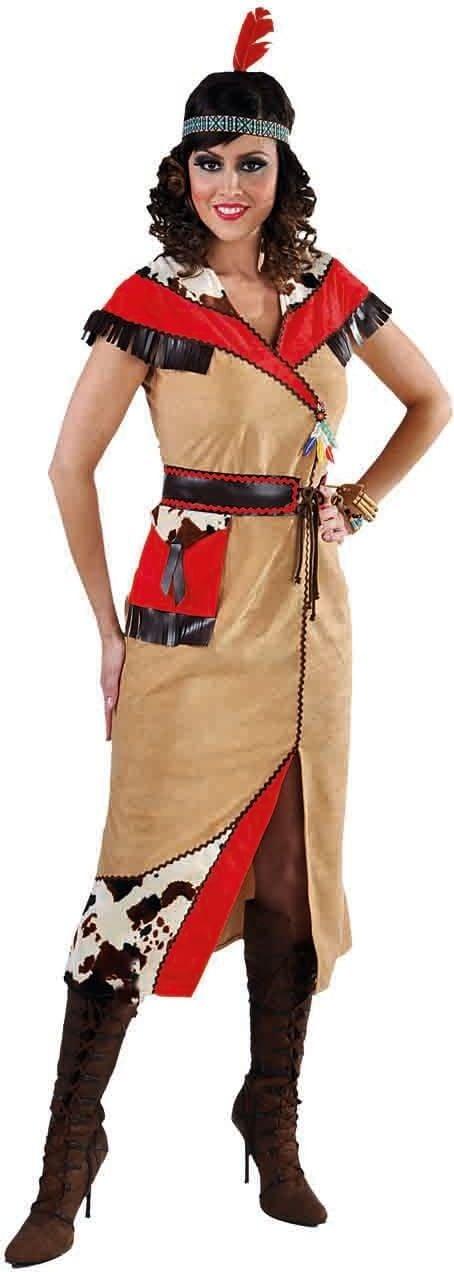 Lange bruine indianen jurk vrouwen