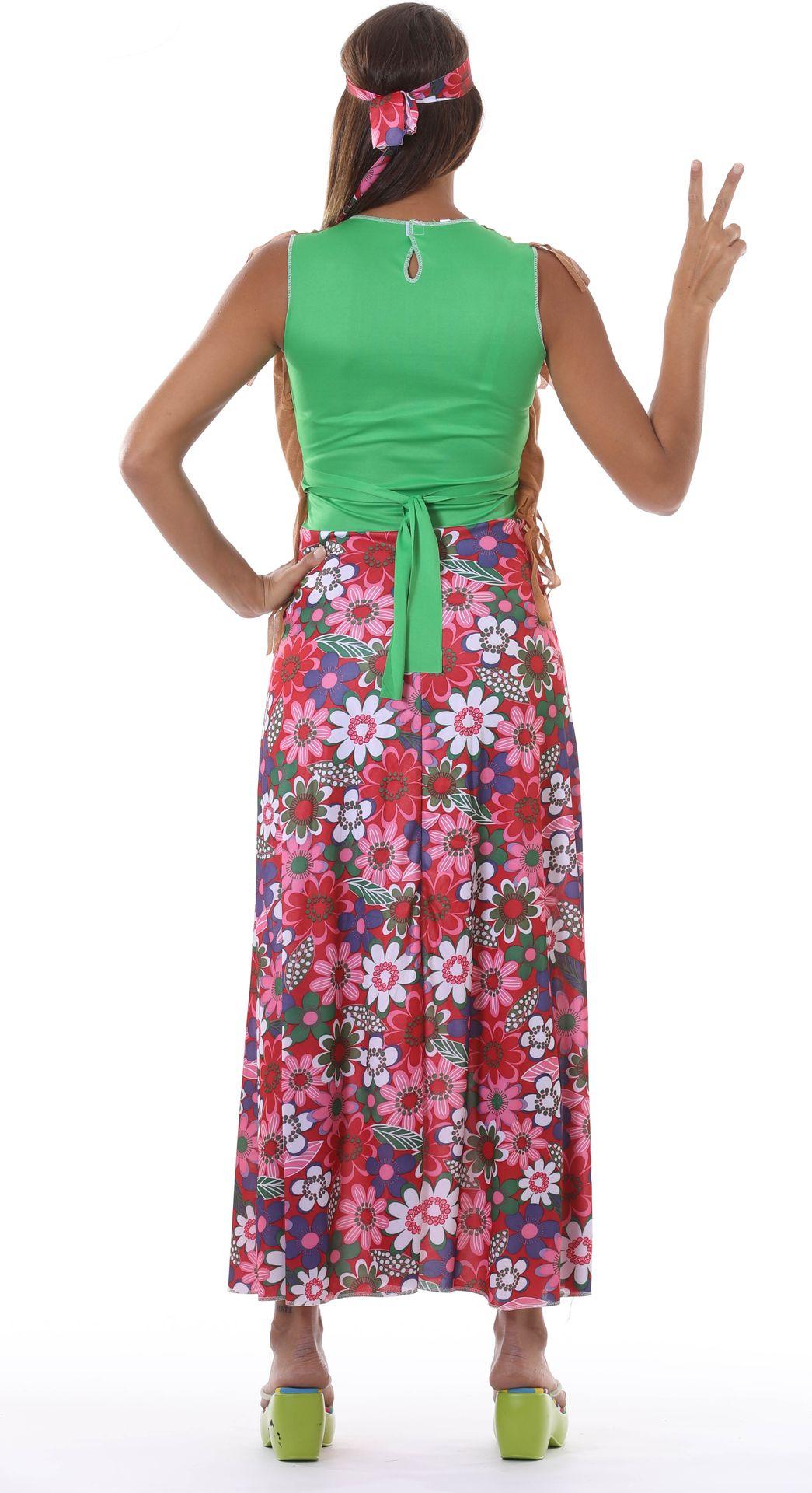 Lange dames hippie jurk