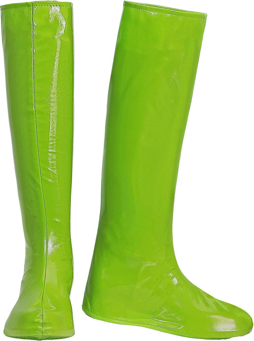 Lange groene laarzen 60s en 70s vrouwen