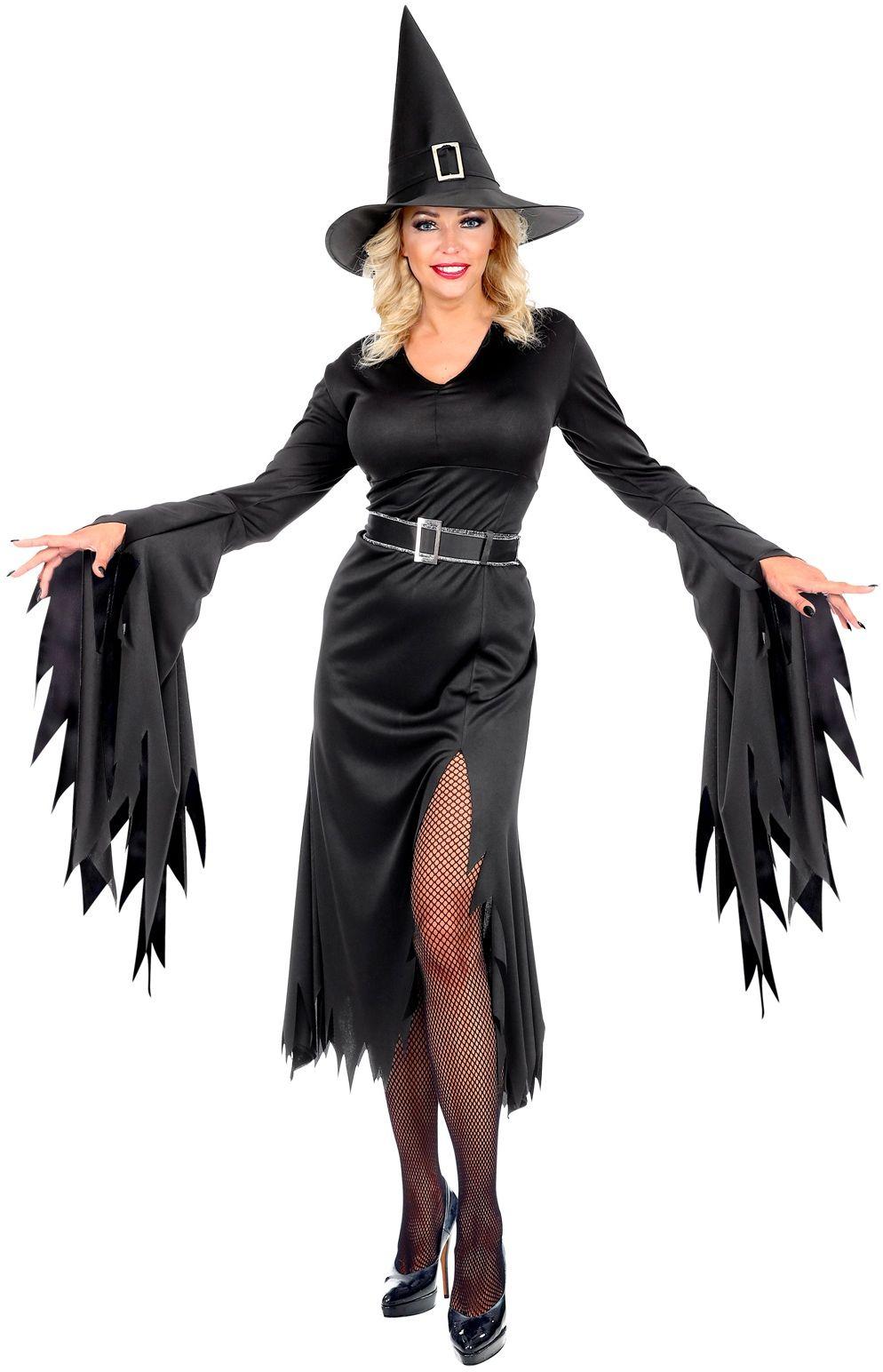 Lange heksen jurk dames