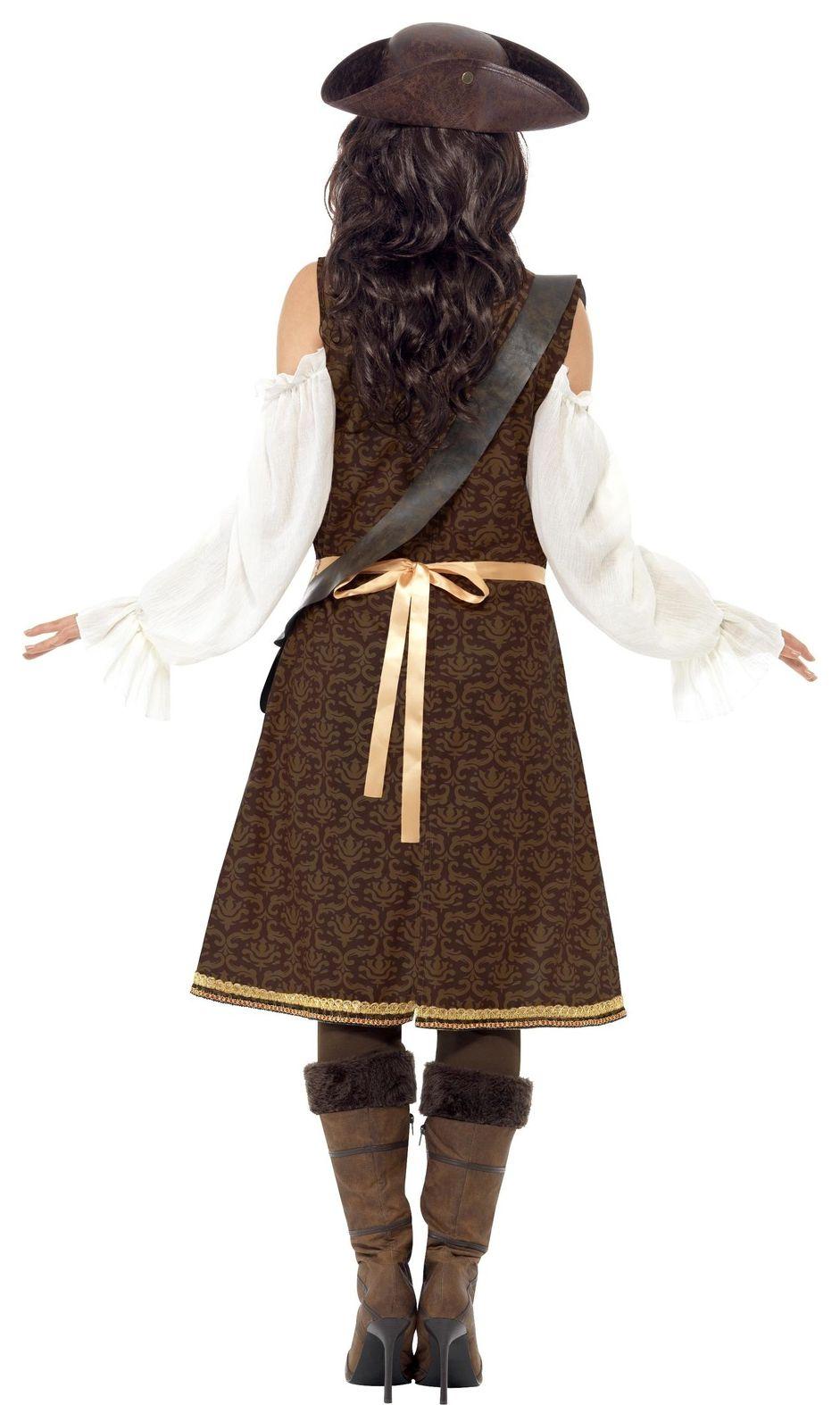 Lange jurk dames piraat