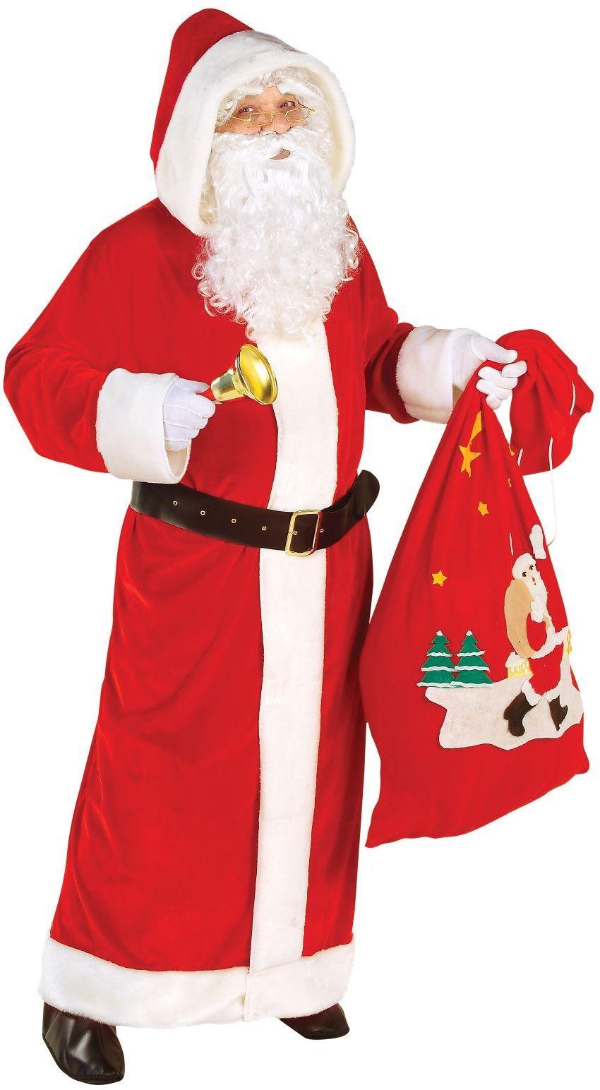Lange rode kerstman jas