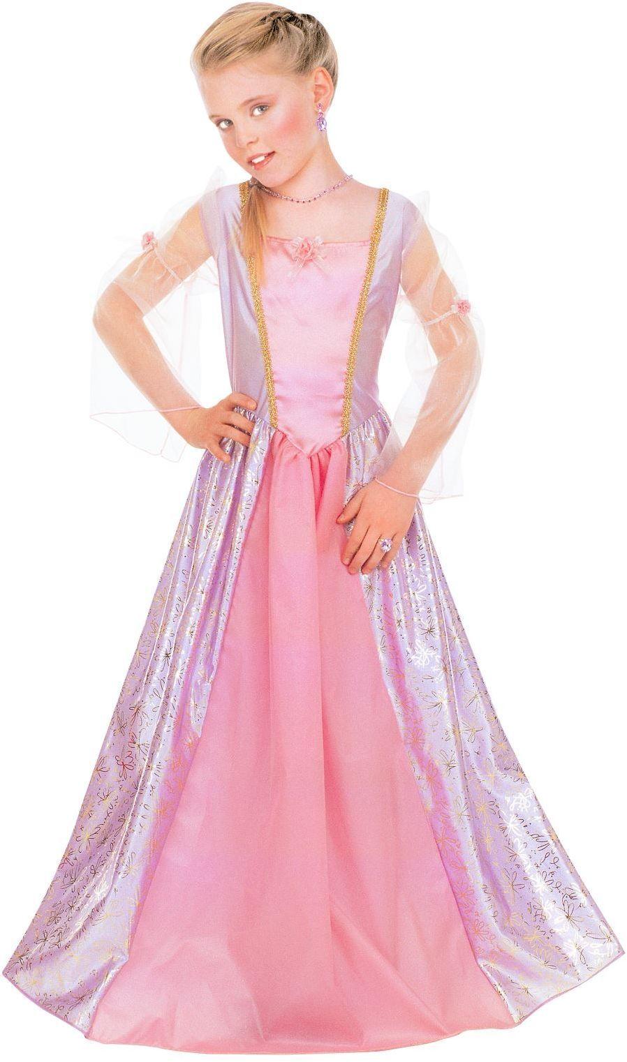 Lange roze jurk meisjes
