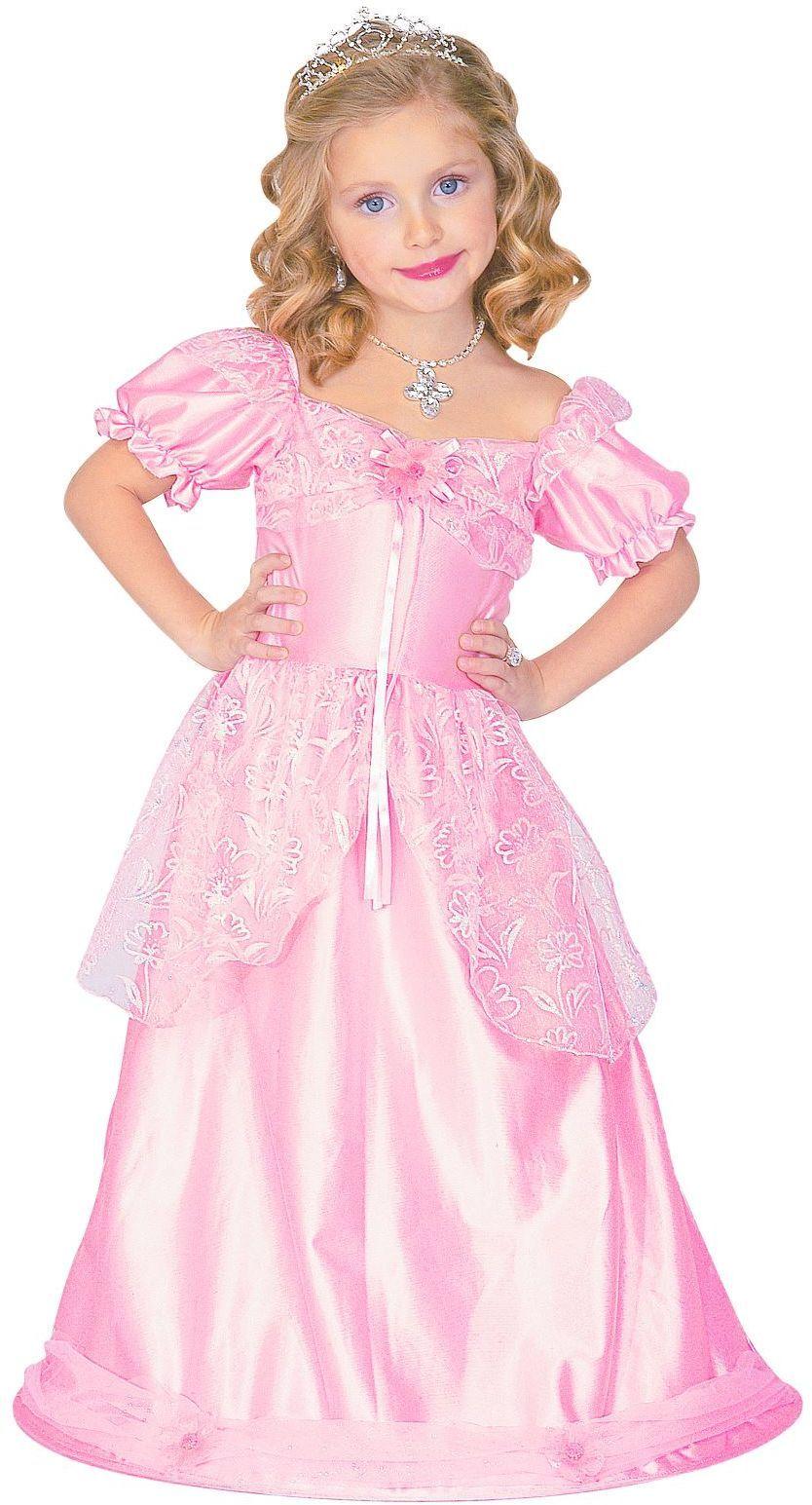 Lange roze prinses jurk meisjes