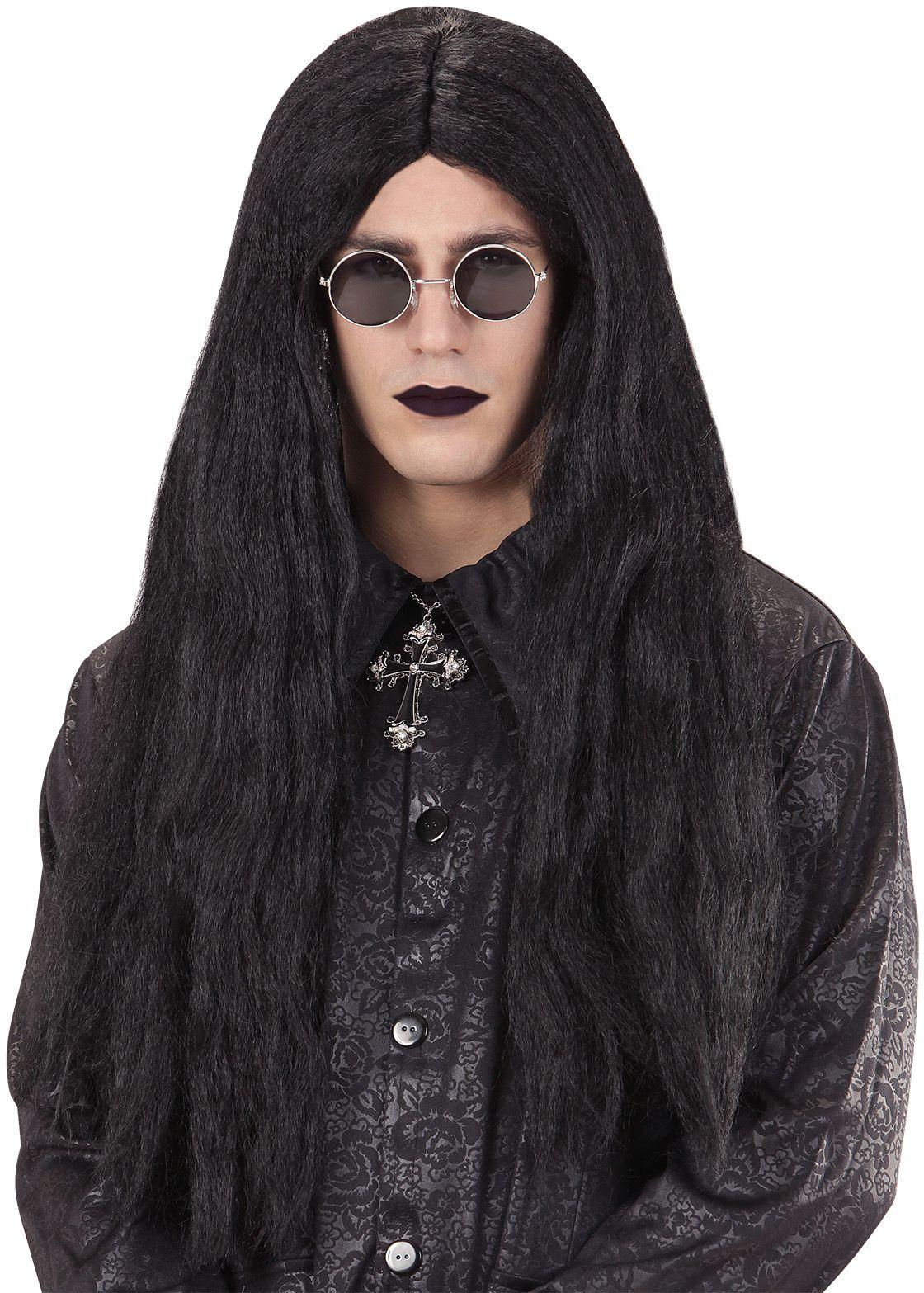Lange vampier pruik