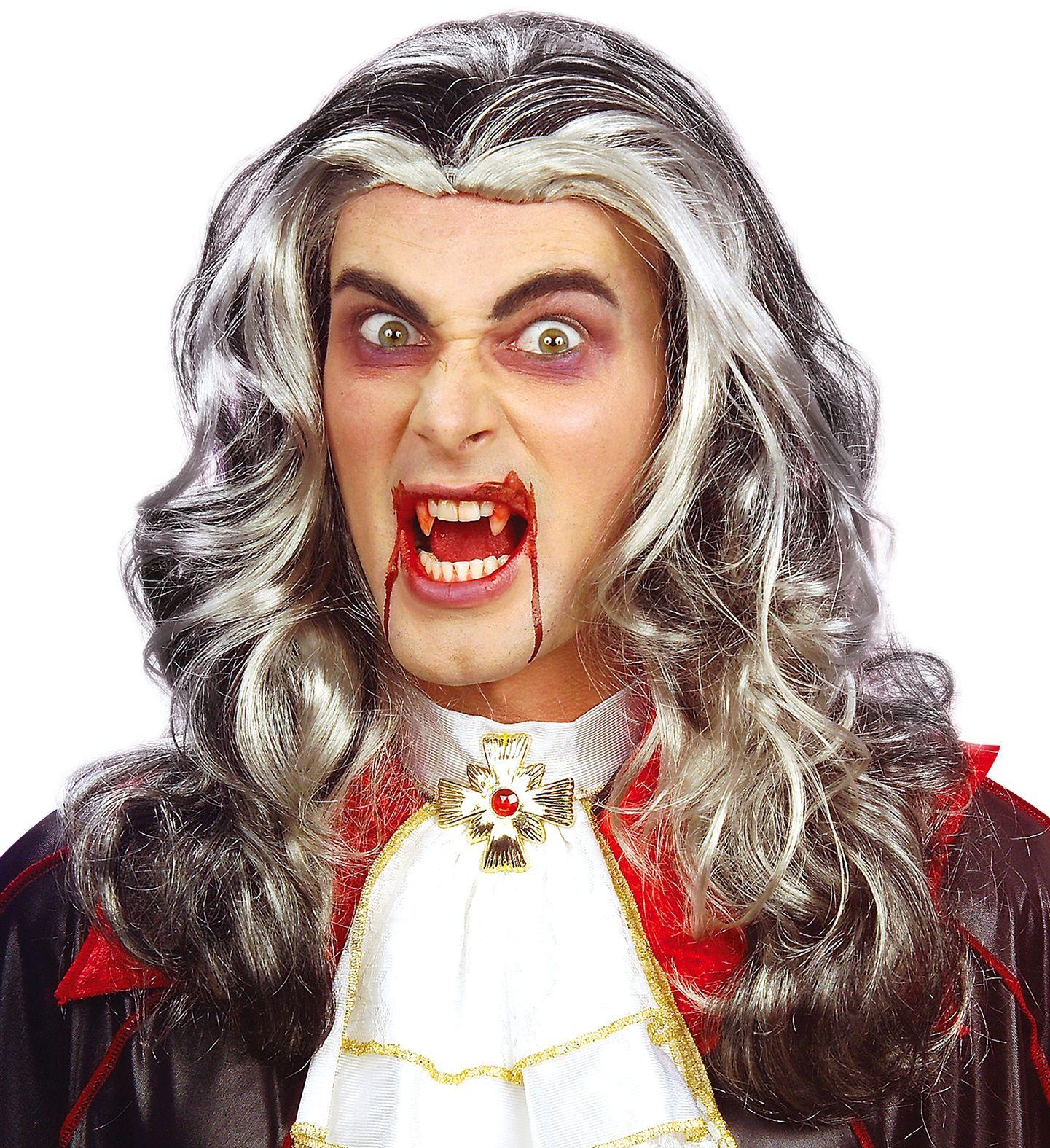 Lange vampieren pruik