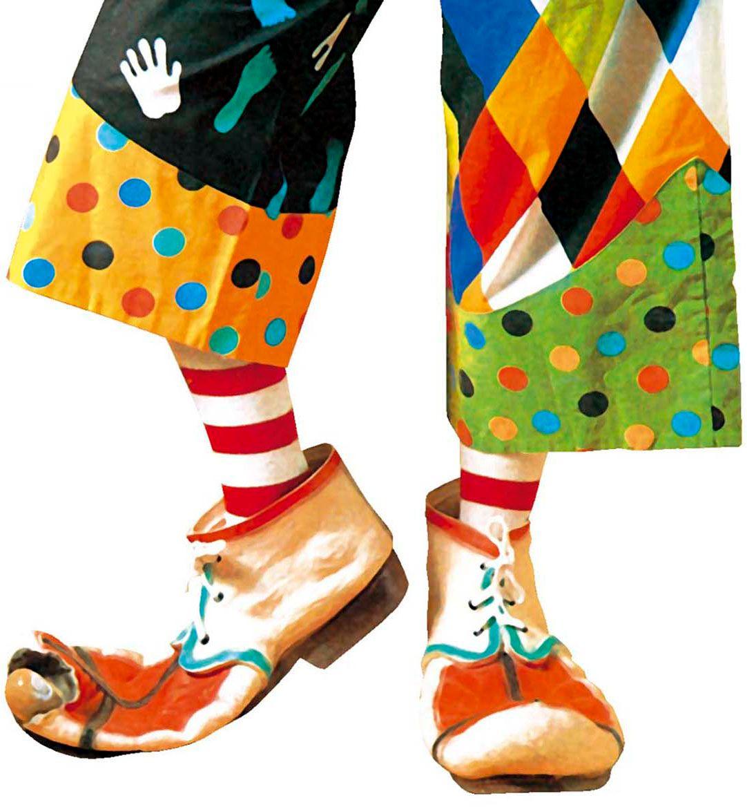 Latex clownsschoenen