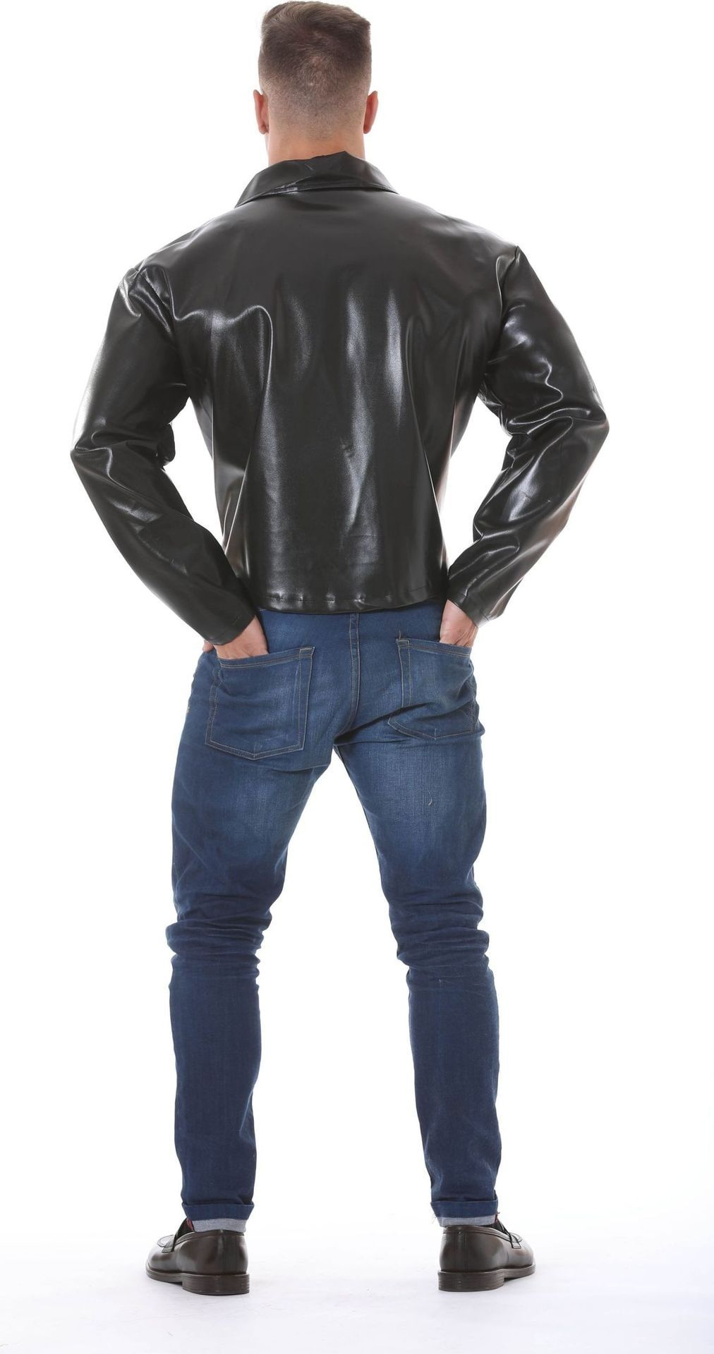 Lederlook biker jas