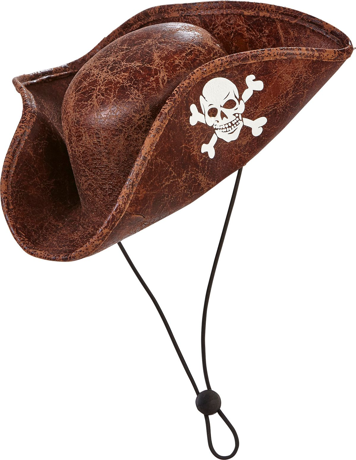 Lederlook piraten tricorn