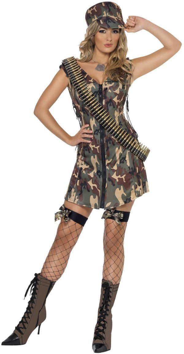 Leger meisje camouflage outfit