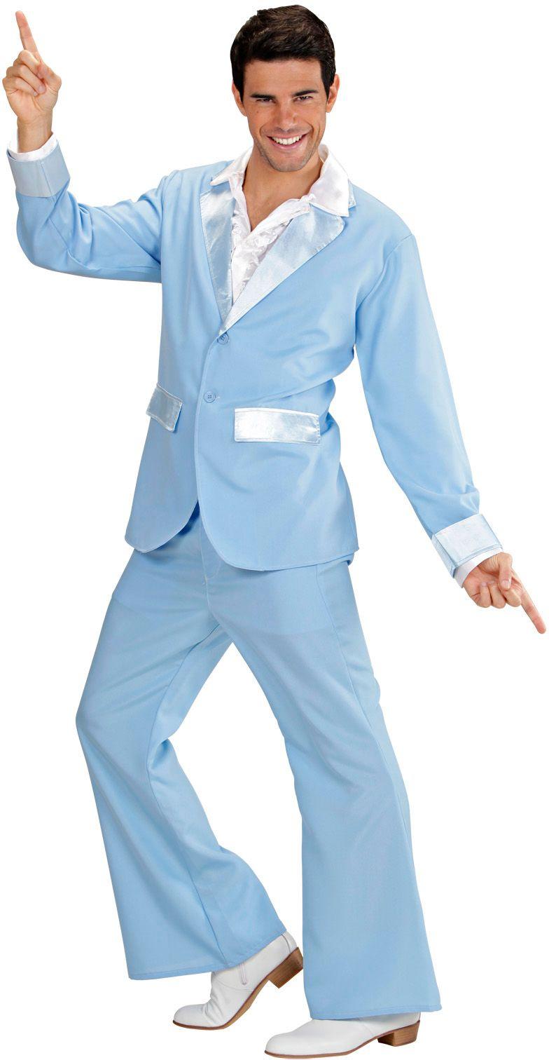 Lichtblauw disco kostuum